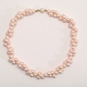 Jewelry - Pale Pink Clustered Pearl Choker